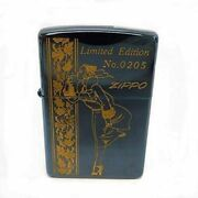 Zippo Lighter Windy Blue Titanium Coating 1995 Limited Edition Japan W/ Tracking