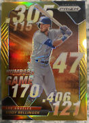 2020 Panini Prizm Cody Bellinger Gold Chrome Numbers Game Insert Andrsquod /10 Dodgers