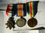 Ww1 Casualty Medal Trio Lieutenant W R Smith Cape Corps And South African Rifles