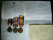 Ww1 Medal Trio Corp Fowler 5th South African Rifles And Sascorps Fr East London Sa