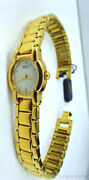 New Vintage Womens Seiko Gold Plated Oval Dress Watch Syl030 Msrp250