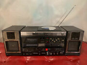 Sony Cfd-5 Boombox Cassette And Cd Player Not Working Radio Stations Works