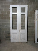 Antique Double Entrance French Doors 47.75 X 103 Architectural Salvage