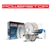 Power Stop Eurostop Disc Brake Pads And Rotor For 2006 Bmw 330xi 3.0l L6 - Kit Mw