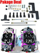 Quick Fuel Br-67302-b2 750 Cfm Black Blower Supercharger Gas Carbs Lines Linkage