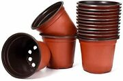 Plastic Planting Pots Seed Starter Outdoor Vegetable Flower Plant Garden Pot 4and039and039
