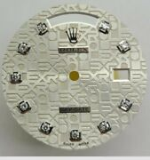 Used Rolex Dial, Daydate, Jubilee, Oyster, 10 Round Factory Original Diamonds