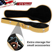 Electric Guitar Storage Case For Lp Les Paul Type Wooden Hard Shell Lockable Box