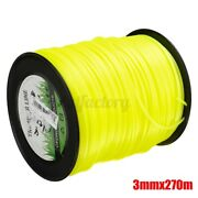 270m Yellow Square Brushcutter Strimmer Trimmer Cord Line Wire 3mm For Stihl