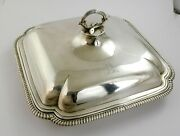 Top Quality Georgian Square Silver Entree Dish London 1788 Robert Sharp Crest