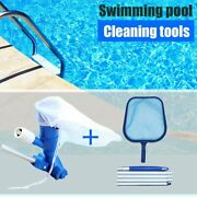 Us Swimming Pool Spa Pond Fountain Vacuum Cleaner Head Mesh Net Cleaning Kit