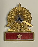 1940/50and039s Pan Am Paa 10k Gold Gf Chief Mechanicand039s Badge-pin.