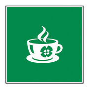 Coffee Floor Decals Green Anti-slip Vertical Shape A Food Signs Stickers