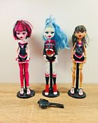 Monster High Doll Fearleading Draculaura Cleo De Nile Ghoulia Yelps Figure Lot