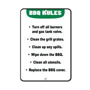 Vertical Metal Sign Multiple Sizes Bbq Burners Tank Clean Grill Grates Spills