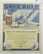 Vintage 1920and039s Fairbankand039s Gold Dust Washing Powder Soap Art Advertisement