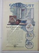 Vintage 1920and039s Fairbankand039s Gold Dust Washing Powder Soap Detergent Magazine Ad