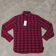 Rrl Flannel Shirt Red Check Slim Fit Size M Mens New Double Rl