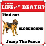Crossing Sign Bloodhound Dog There Life After Death Jump Fence Cross Xing Metal