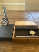 Mitutoyo 27776f And Vintage Ames S-5101 Dial Indicators With Granite Base And Box.