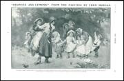 1904 Fine Art Oranges And Lemons Fred Morgan Marriage Game Children 123