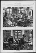 1872 Antique Print - Germany Mittenwald Musical Instrument Makers Violin 139
