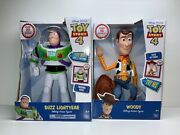 Toy Story 4 Disney Pixar Buzz Lightyear And Woody Talking Action Figures