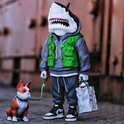 Pop Sunday Shark Man Limited Collectible Action Figure 20cm Hot Toy New In Stock