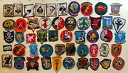 Combo 45 X Patches Airborne Lrrp Recon Usn Pbr Arvn Usafussf S