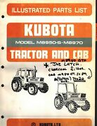 Kubota M8950-s 8950dt-s And M8970 Tractor And Cab Parts Manual