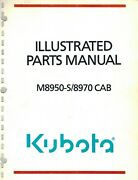 Kubota M8970-s And M8970 Cab Tractor And Cab Parts Manual