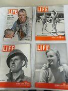 4 Life Magazines 1939-41-43-62 Great Shape Great Ads Foot Solider Mar Monroe