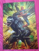 Spider Man And Venom Metal Poster Great For Any Room Size 26.5l X 19w