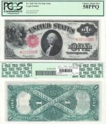 1917 1 Legal Tender Star Note Fr 36 Pcgs Choice About New-58 Ppq