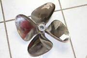 S.s. Propeller 12 X 11p Lh V Drive Prop 4 Blade 1 Tapered Shaft