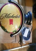 Michelob Beer Double Sided Light Up Pub Motion Spinning Sign Game Room Man Cave