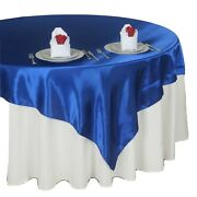 Tablecloth Satin Overlay Table Clothes Cover Wedding Catering Party Home Decors