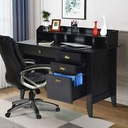 Computer Desk Pc Laptop Table W/4 Drawer Home Office Study Workstation 2colors