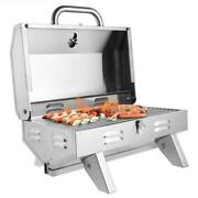 Stainless Steel Tabletop Propane Gas Grill Square Oven Portable Camping Burner