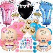Gender Reveal Party Supplies - 87 Pieces Gender Reveal Decorations Baby Baby