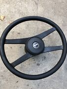 76 Corvette Only Steering Wheel With Collar And Lock Ring And Cap Oem Gm C3