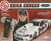 2005 Erica Enders Signed Chicago Pneumatic Chevy Cavalier Ps Nhra Postcard
