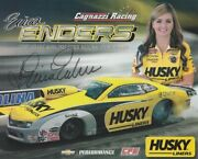 2013 Erica Enders Signed Husky Liners Chevy Camaro Pro Stock Nhra Postcard