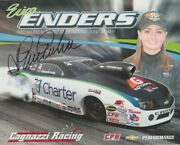 2013 Erica Enders Signed Charter Chevy Camaro Pro Stock Nhra Postcard