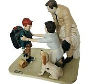 Norman Rockwell Figurine Danbury Mint 12 Porcelain Sculpture Home From Camp Gift