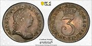 1763 Great Britain 3d Three Pence S-3753 Pcgs Au58 Silver Coin