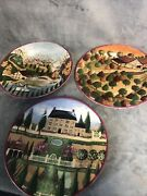 1995 Block Country Village Collectible Plates By Gear 8 Lot Of 3 Euc