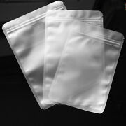 Matte Clear Plastic For Zip Reclosable Poly Lock Jewelry Bags Food Grade Pouches