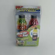 Bottle Top Set Of 12 Plastic Caps For Soda Can - New - As Seen On Tv