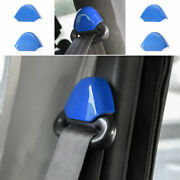 Blue Safety Belt Buckle Accessories Cover Trim Fit For Jeep Wrangler Tj 97-2006